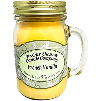 French Vanilla Scented 13 Ounce Mason Jar Candle By Our Own Candle Company