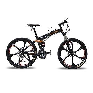 Cyrusher Fr100 Folding Mountain Bike Black Full