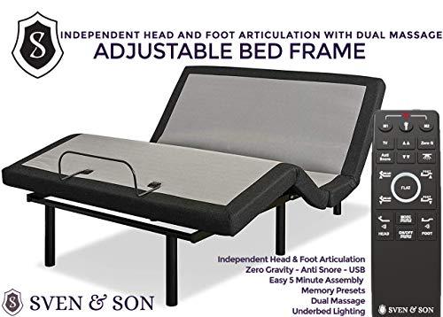 Queen Adjustable Bed Frame Base + 10