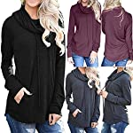 Clearance Forthery Women Pullover Hoodies Sweatshirts Long Sleeve Drawstring Tunic Tops Pockets