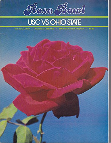 1980 Rose Bowl Football Program USC vs Ohio State