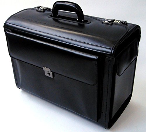 Leather Laptop Catalog Case Pilot Briefcase Flight Cabin Crew Hand Luggage (Laptop Catalog Case)