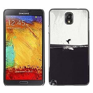 TopCaseStore / la caja del caucho duro de la cubierta de protección de la piel - Gray Bird Sea Art Drawing - Samsung Galaxy Note 3 N9000 N9002 N9005