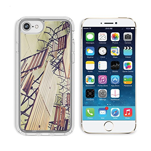 (Luxlady Apple iPhone 6/6S Clear case Soft TPU Rubber Silicone Bumper Snap Cases iPhone6/6S IMAGE ID 27620877 Vintage looking Tables and chairs of a dehors alfresco bar restaurant pub)