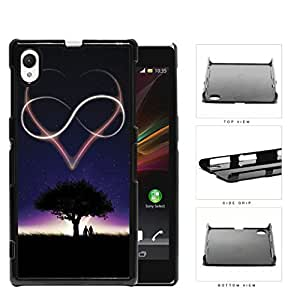 Starry Night Heart And Infinity Sign Hard Plastic Snap On Cell Phone Case Sony Xperia Z1
