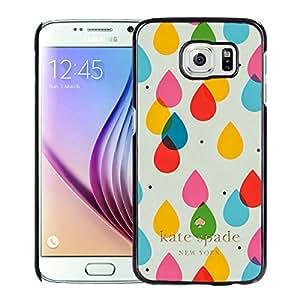 Unique Custom Designed Kate Spade Cover Case For Samsung Galaxy S6 Black Phone Case 205