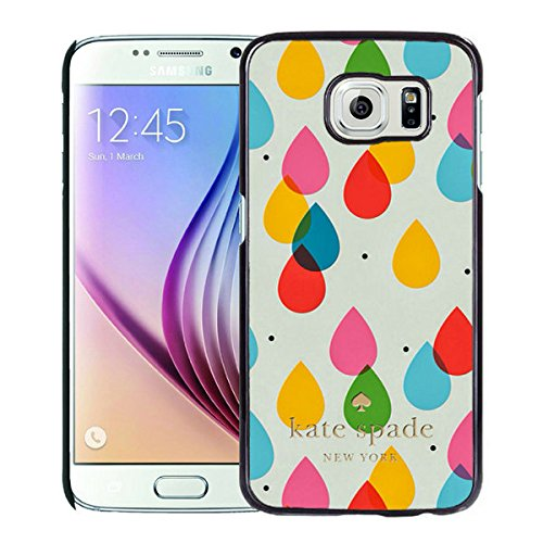 Luxurious And Nice Custom Designed Kate Spade Cover Case For Samsung Galaxy S6 Black Phone Case 205