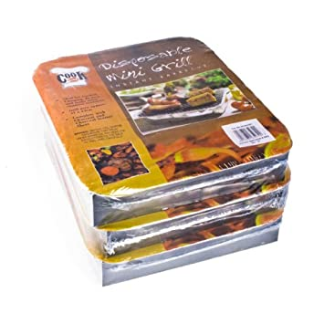 Parrilla de barbacoa desechables Mini Triple Pack
