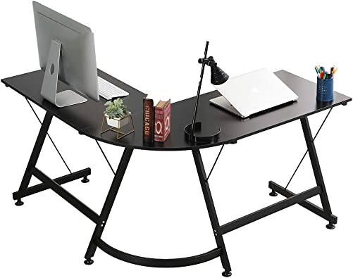 SPEIDEAL LIFE L-Shaped Computer Desk Gaming Desk Office Worksation Computer Desk
