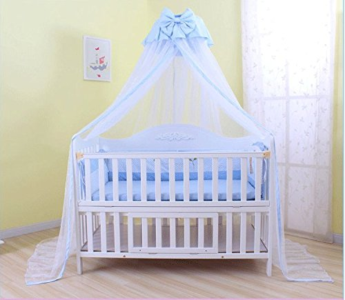 Baby Mosquito Net Baby Toddler Bed Crib Dome Canopy Netting (butterfly (Baby Blue Butterfly)