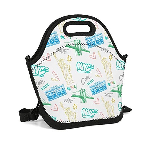 ArPKnight Cool-New-York-City- Lunch Box Warm Insulated Containers Bag Lunch Box