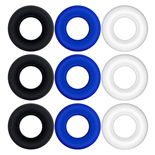 L'aise vie Soft Stretchy Donut Cock Rings Waterproof Silicone Ring Relax-- Assorted Pack of 3 Seamless Same Size Different Color Toys (3)