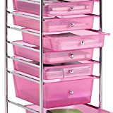 Baby Nursery Diaper Accessories Organizer Cart with 8 Drawer and Wheels 360° Rotation Pack and Play