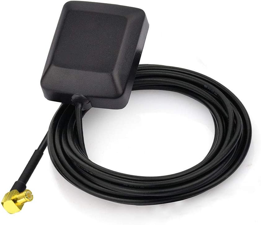 Superbat Waterproof Active GPS Antenna with MCX Male Plug Connector 3-5V DC Hidden Magnetic Mount for Tomtom Garmin Navman Clarion GPS Navigation Receiver Modem etc.