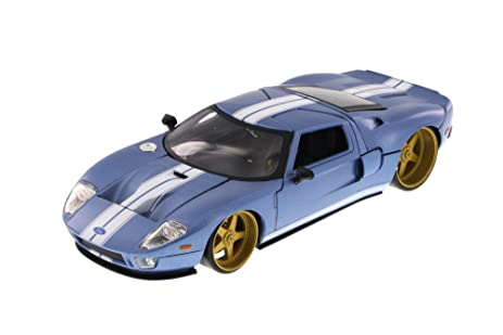Amazon.com: Ford GT, Blue - JADA Toys 97366AB - 1/24 Scale Diecast ...