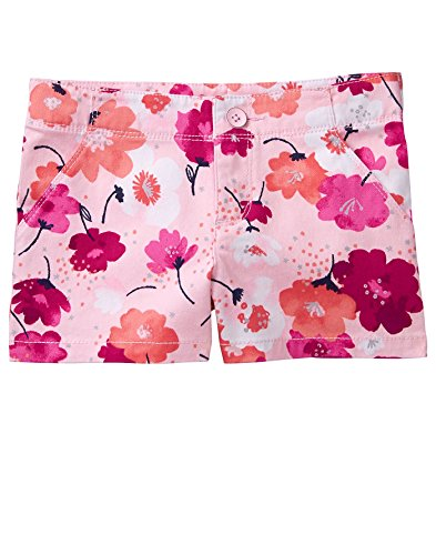 Gymboree Girls' Little Floral Printed Shorts, Poppy, 6 from Gymboree