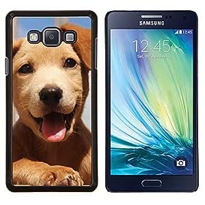 YiPhone /// Prima de resorte delgada de la cubierta del caso de Shell Armor - Perrito del golden retriever feliz admiten perros - Samsung Galaxy A7 A7000