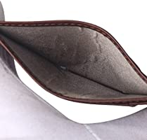 Teemzone Delgado Cartera Tarjetero Hombre Piel RFID Protección Billetera Organizador de Tarjetas (Café Tarjetero)