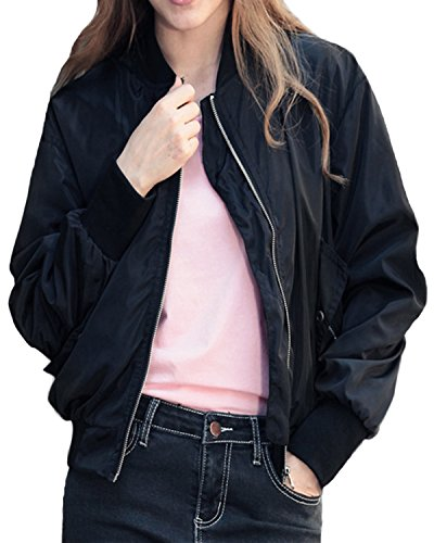 Girls Quilted Bomber Jacket - 5