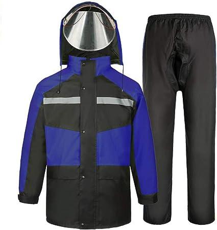 RCJCQS Wasserdichter Anzug F/ür Herren Erwachsenen Wasserdichten Anzug Mit Reflexstreifen Regenjacke Outdoor-Klettern Atmungsaktiv Motorrad Regenanzug,XXL