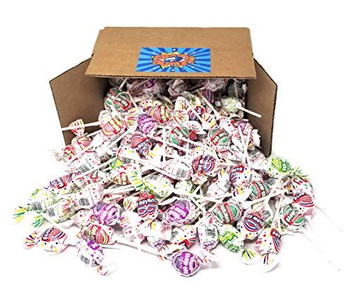 CrazyOutlet Pack - Charms Blow Pops Candy, Bubble Gum Filled Pop, Assorted Fruit Flavor Lollipops, Bulk Pack, 2 lbs