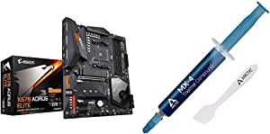 GIGABYTE X570 AORUS Elite Wi-Fi & Arctic MX-4 - Thermal Compound Paste for Coolers | Heat Sink Paste | Composed of Carbon Micro-Particles | Easy to Apply | High Durability - 4 Grams