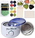 #6: Wax Warmer Kit Waxing Kit Melt Hard Wax Beands with Hard Wax Beans and Wax Applicator Sticks and Melting Wax Bowl