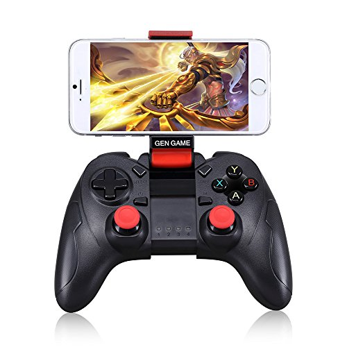 GEN GAME S6 Wireless BT Gamepad Joystick Game Controller for Android series of mobile phones Galaxy S9 | S9+Galaxy S8/HUAWEI Mate 10 P20/VIVO x21 x23/AndroidPC, TV Box 4 400 Mah Li Ion Laptop