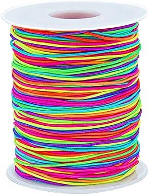 91aca4c650cb Sunmns - Cordón elástico de 1 mm para hacer pulseras de joyería ...