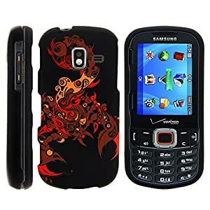 Samsung Intensity 3 Case, Slim Fit Snap On Cover with Unique, Customized Design for Samsung Intensity 3 III SCH-U485 (Verizon) from MINITURTLE | Includes Clear Screen Protector and Stylus Pen - Scorpion Soul