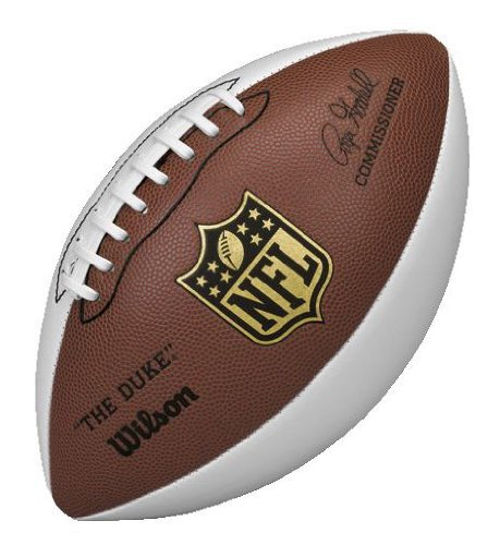 Wilson NFL Autograph Football, Brown/White (Football White compare prices)