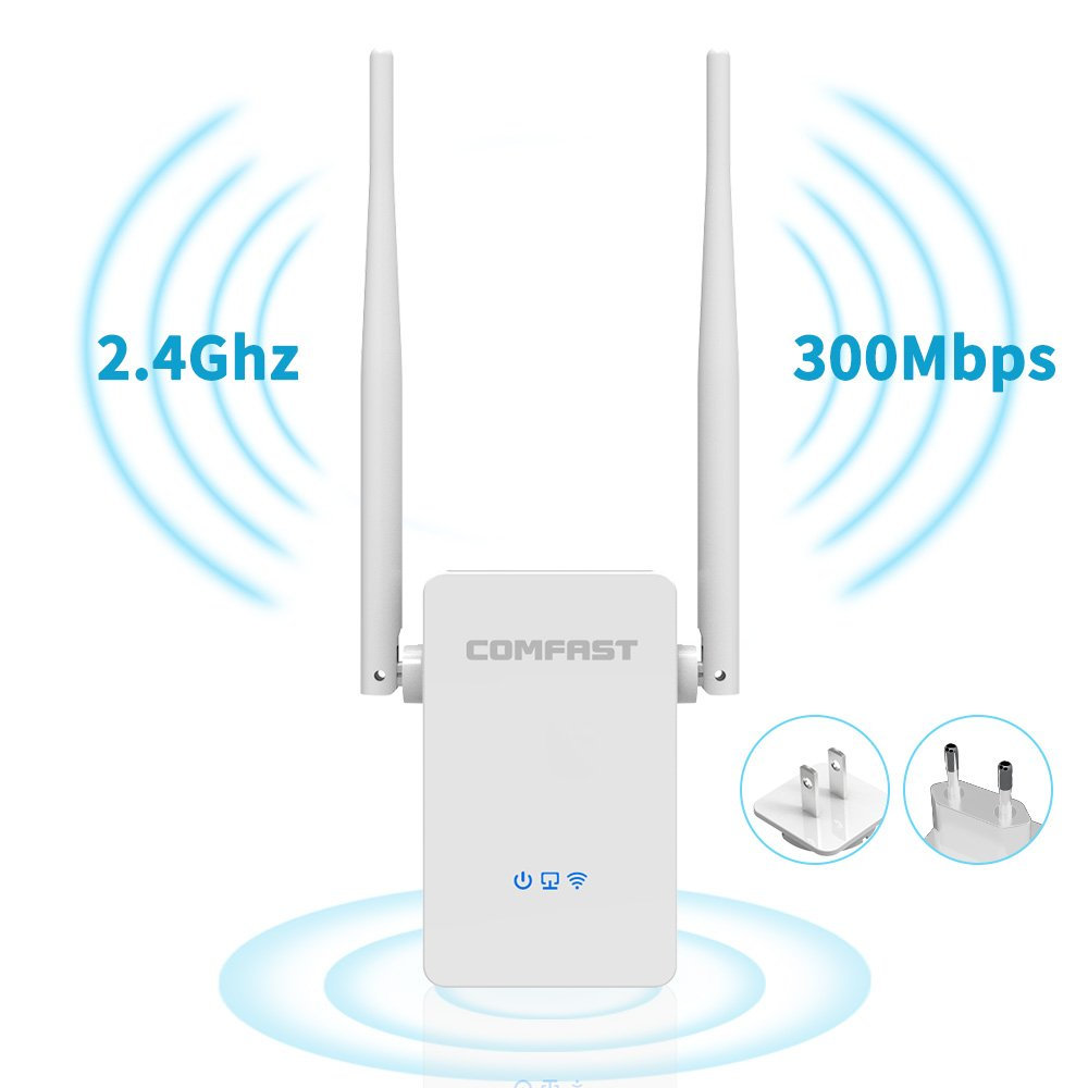 COMFAST WiFi Range Extender Wireless 2.4GHz 300Mbps Wi-Fi Signal Repeater Booster, Extends WiFi to Smart Home Devices