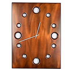 Sable, Large Rectangular Metal Powder Coated Wall Clock, Sleek, Industrial, Modern and Unique, Silent (non-ticking)