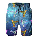 OIYP Funny Hummingbirds Mens Basic Watershorts XXL With Pocket