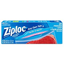 Ziploc Freezer Bags with Double Zipper Seal and Easy Open Tabs - Large - 28 Count