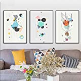 856store Creative Modern Geometric Indoor Home Cafe Artistic Wall Decor Waterproof Canvas Painting - 3# 30cm x 40cm