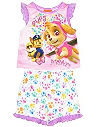 Nickelodeon Paw Patrol Little Girls' 2 Piece Tank And Shorts Pajama Set