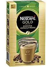 NESCAFÉ Gold Special Edition Roasted Hazelnut Mocha Coffee Sachets 8 Serves, 144 g
