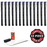 Winn Dri-Tac Midsize +116-Inch Grip Kit (13-Piece), Dark Gray