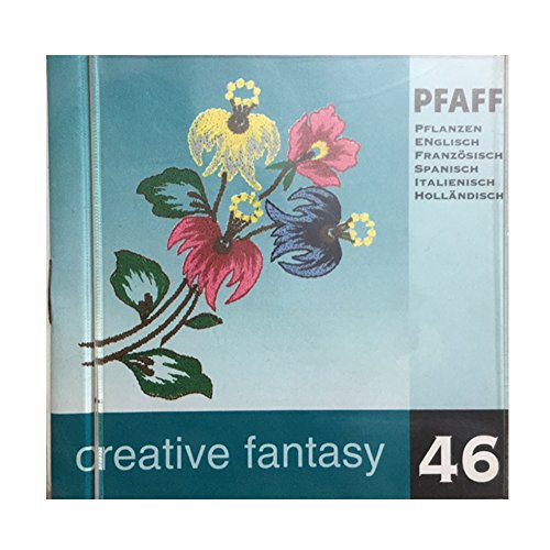 Pfaff Creative Fantasy Embroidery card design #46 for 7570 and others - Flower