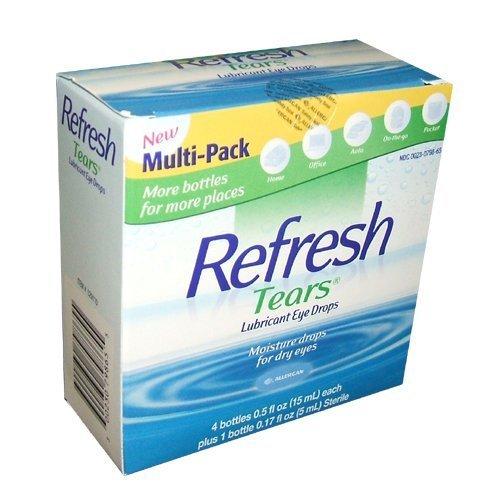 Refresh Tears Lubricant Eye Drops (4 x .5 fl oz and 1 x .17 fl oz. bottles) by Refresh