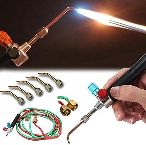 Amazon.com: SKEMIX Top Gas Torch Welding Soldering Little Torch Soldering With 5 Weld Tips: Home Improvement