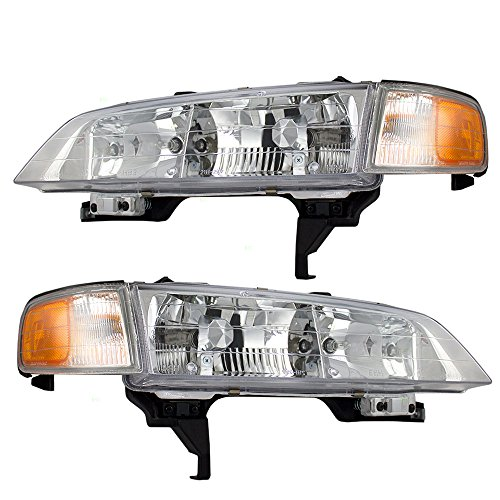 Driver and Passenger Headlights Headlamps Replacement for Honda 33150-SV4-A02 (A02 Headlamp)