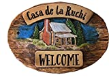 Personalized Cabin Rustic Sign For Sale