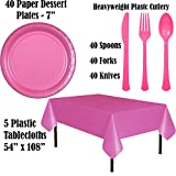 Disposable Party Supplies, Serves 40 - Purple and