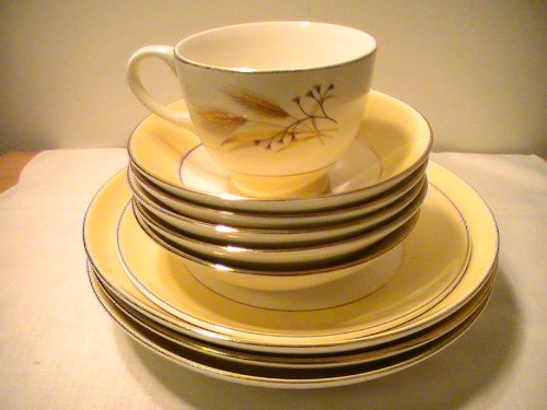 Vintage Homer Laughlin - Vintage Homer Laughlin Fine China Autumn Gold - 10 Pc. Mixed