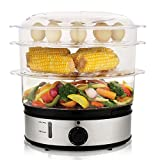 MeyKey MK5160 Healthy Food Steamer with Timer,9.5 Quart and 800W