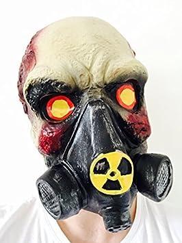 Zombie Calavera GAS Máscara BIOHAZARD Disfraz Baile De Máscaras Walking Dead látex en la parte de