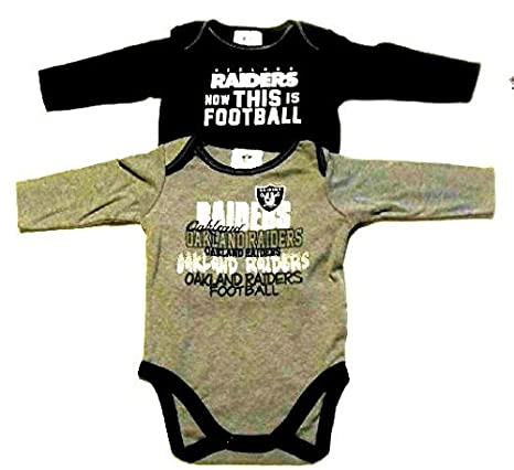 Amazon.com  Gerber Baby Boys Oakland Raiders Bodysuit Duo (Black ... 7fa5a1cb2