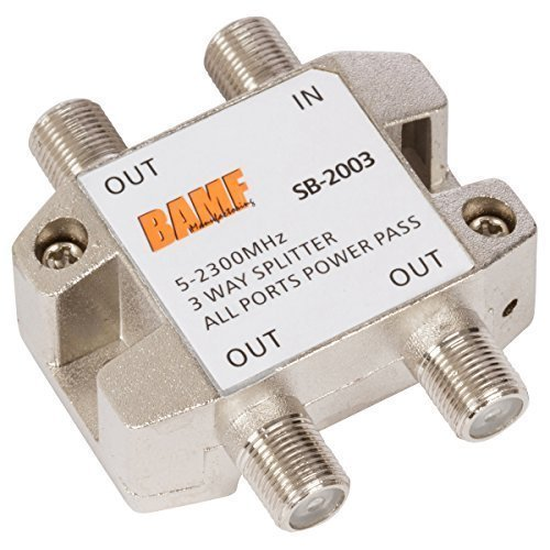 BAMF 3-Way Coax Cable Splitter Bi-Directional MoCA -